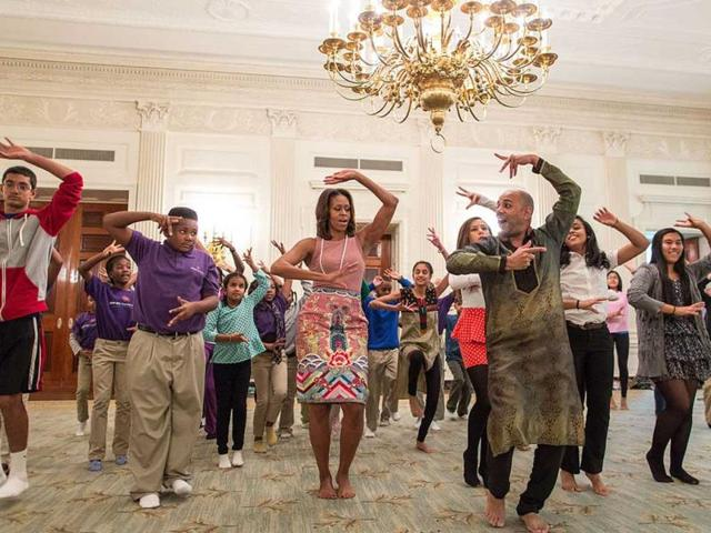 Michelle Obama's Bollywood dance among top White House pics