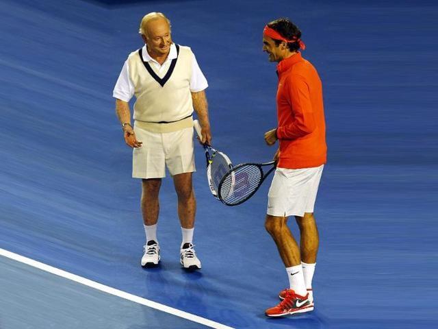 Roger Federer,rod laver,australian open