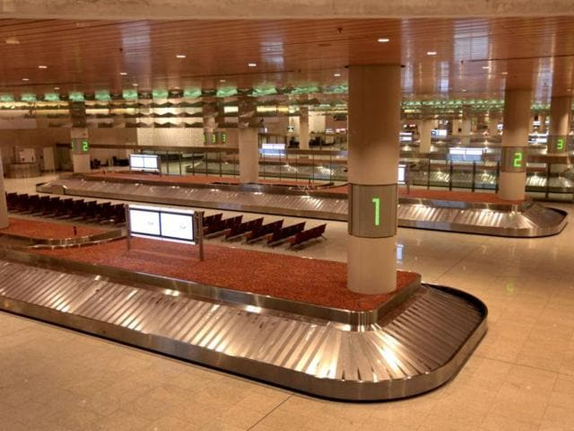 New Chatrapati Shivaji international terminal T2 in Mumbai. Vijayanand Gupta / Hindustan Times