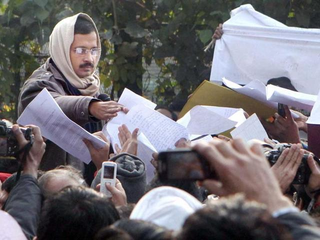 Cong activists protest outside Kejriwal's house