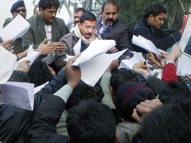 Delhi-CM-Arvind-Kejriwal-addressing-media-at-the-launch-of-Aam-Aadmi-Party-s-free-membership-campaign-in-New-Delhi-PTI-photo