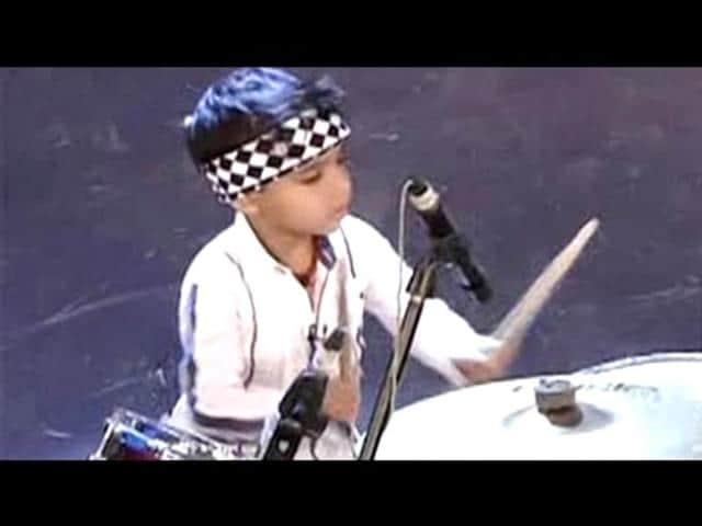 Three-year-old-Anshuman-playing-drums
