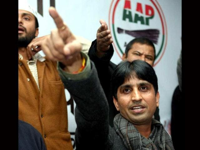 AAP-leader-Kumar-Vishwas-at-a-press-conference-in-Lucknow-PTI-Photo