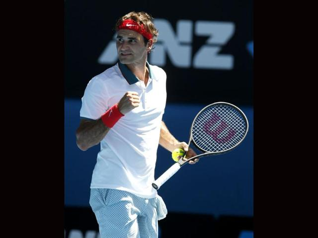 Roger-Federer-of-Switzerland-celebrates-his-win-over-James-Duckworth-of-Australia-after-their-first-round-match-at-the-Australian-Open-in-Melbourne-AP-Photo