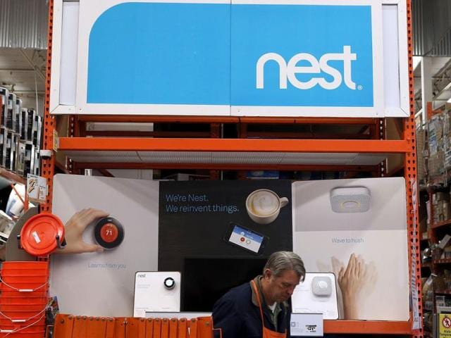 Nest-products-are-displayed-at-a-Home-Depot-store-in-San-Rafael-California-AFP-photo