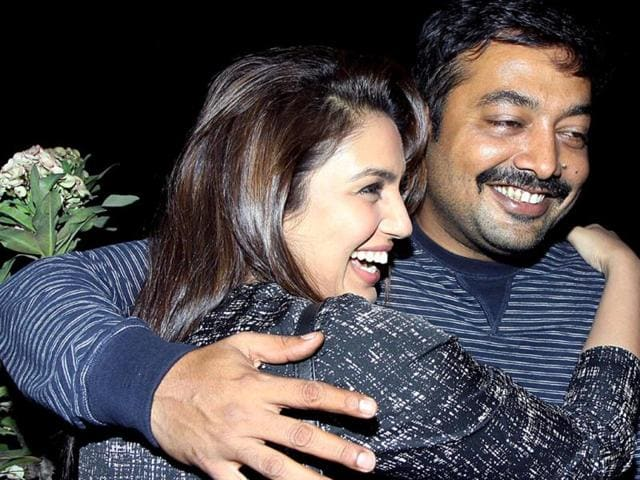 Bollywood-actor-Huma-Qureshi-with-director-Anurag-Kashyap-during-the-screening-of-film-American-Hustle-in-Mumbai-on-Saturday-Check-out-more-pics