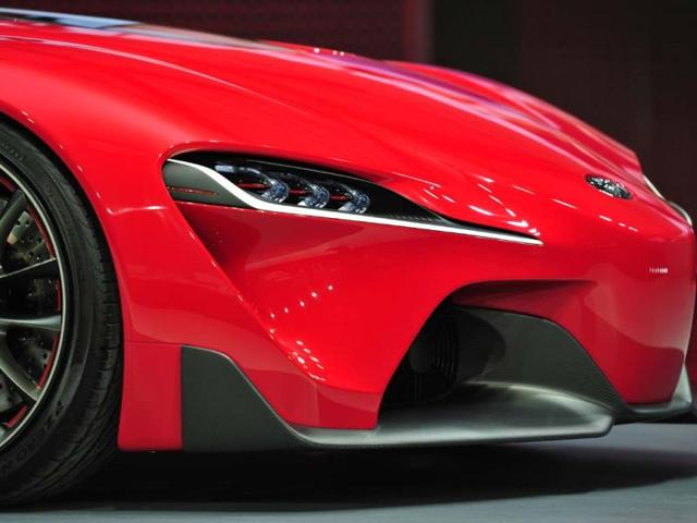 Detail-view-of-the-nose-of-the-Toyota-FT-1-sportscar-unveiled-during-a-press-preview-at-the-North-American-International-Auto-Show-January-13-2014-in-Detroit-Photo-AFP