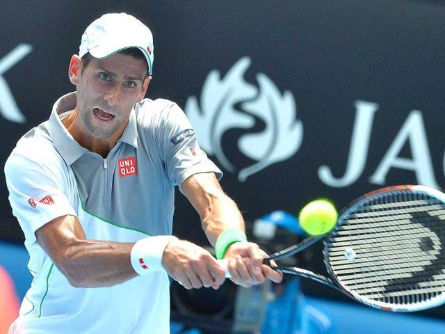 Serbia-s-Novak-Djokovic-plays-a-shot-during-his-men-s-singles-match-against-Argentina-s-Leonardo-Mayer-on-day-three-of-the-2014-Australian-Open-in-Melbourne-AFP-Photo
