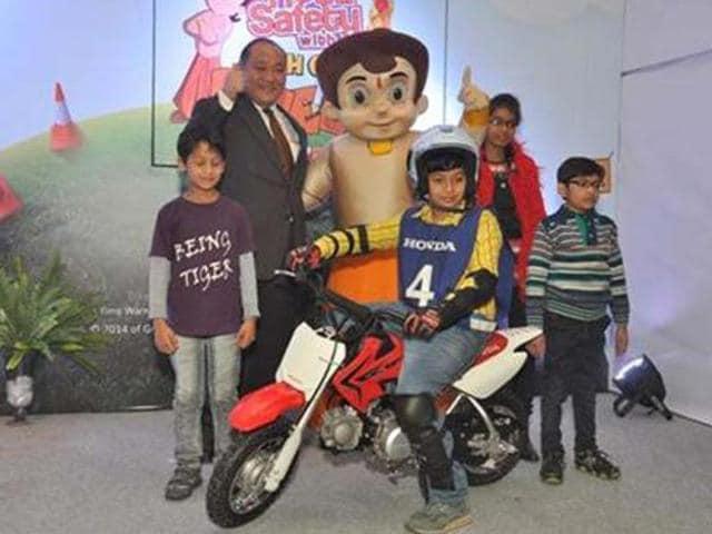 honda bikes,safe riding,Chhota Bheem