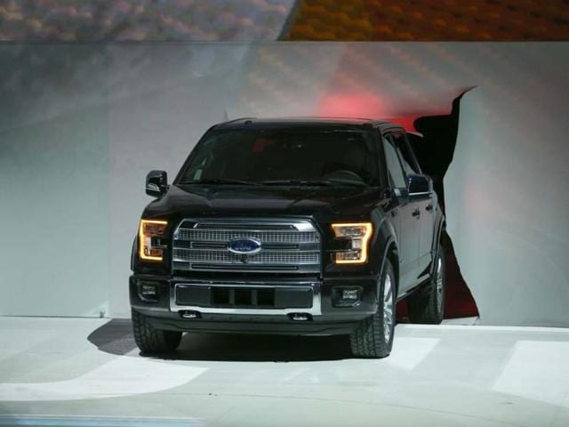 US carmakers use aluminum,carbon fiber to cut weight,new Ford F150