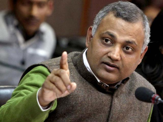 Somnath Bharti's wife alleges domestic abuse; he says charges baseless