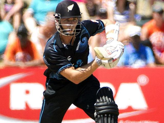 Kane Williamson of New Zealand bats during the first ODI against India at McLean Park in Napier. (AFP Photo)