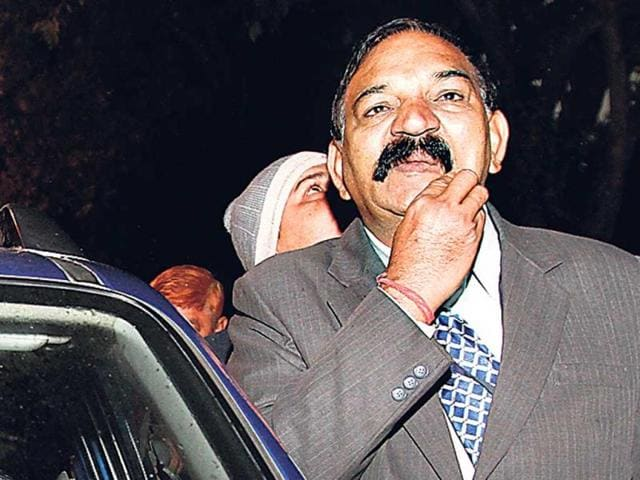 File-photo-of-Delhi-Police-sub-inspector-Dinesh-Kumar-the-personal-security-officer-of-chief-minister-Arvind-Kejriwal-HT-Photo