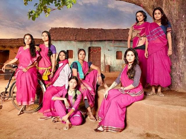 Gulaab Gang is the story of a group of Indian women fighting against social injustice. Madhuri plays their leader.