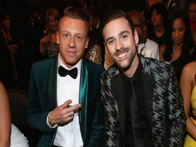Macklemore--and-Ryan-Lewis-at-the-Grammy-Awards-2014-AFP-Photo