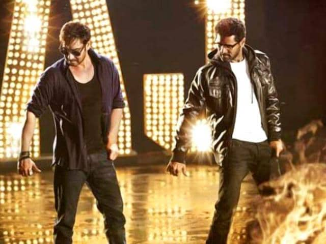 -Sonakshi Sinha starrer Action Jackson is out,with the actor matching steps with dance maverick Prabhudheva on the film's poster. Ajay Devgn,Sonakshi Sinha