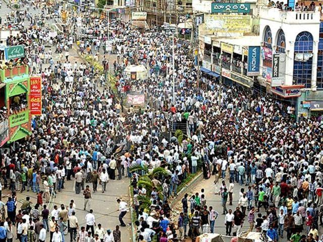 Telangana fight in Lok Sabha