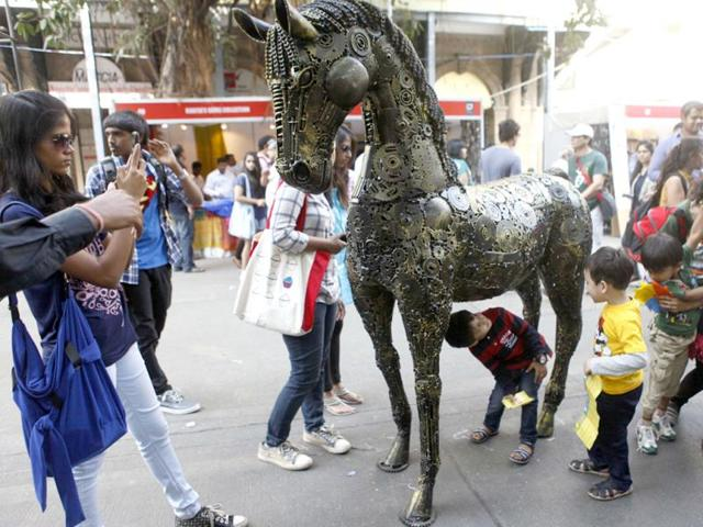 People-attending-the-Kala-Ghoda-Arts-Festival-in-Mumbai-Kalpak-Pathak-HT