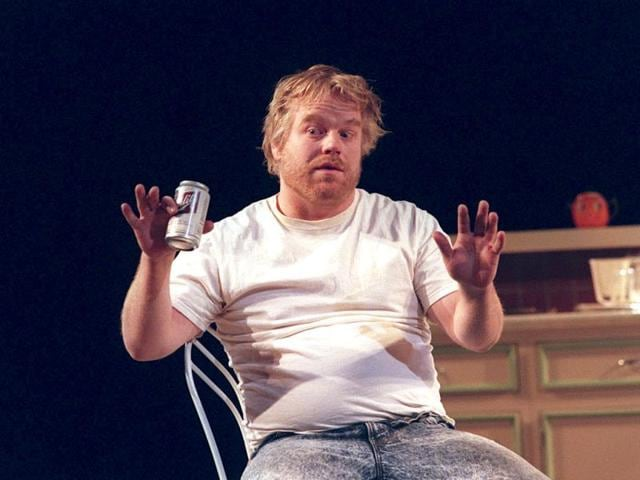 Philip Seymour Hoffman in the play True West, for which he was nominated for a Tony Award for Best Actor in a Play, at Circle in the Square Theatre on May 10, 2000.