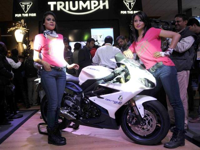 Triumph-Motorcycles-launch-the-Daytona-675-during-the-12th-Auto-Expo-in-Greater-Noida-Burhaan-Kinu-Hindustan-Times