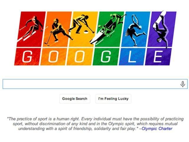Google posts LGBT-friendly doodle, flies gay flag for Sochi Olympics