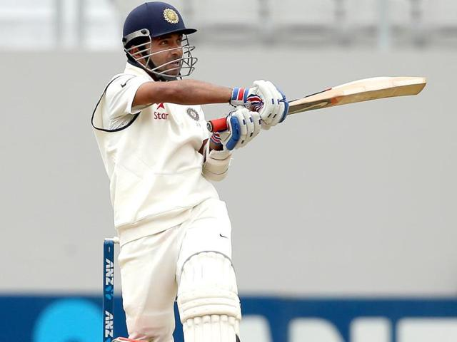 Ajinkya Rahane of India bats during day two of the first Test against New Zealand at Eden Park in Auckland. (AFP Photo)