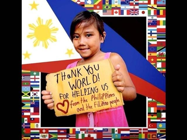 Philippines says 'Thank You world' for typhoon aid with billboards, tweets