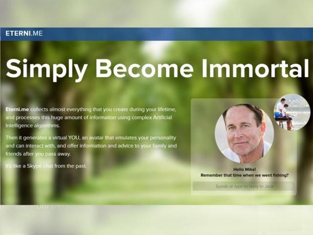 Want to become immortal? Eterni.me will mimic you when you are gone