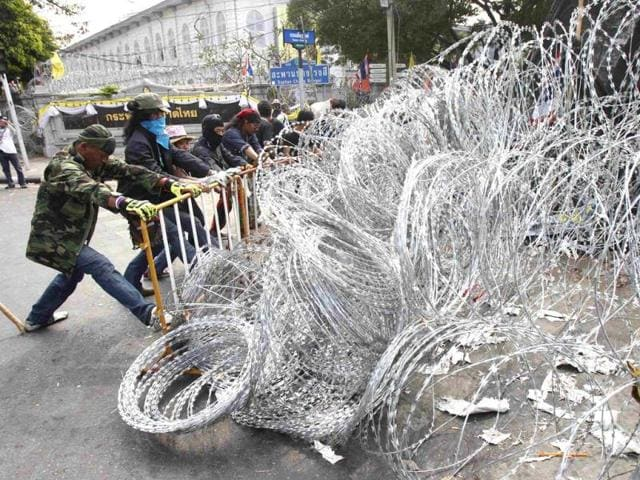 Six wounded in explosion at Bangkok protest site