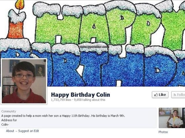 Colin,faceboook page for Colin,happy birthday colin