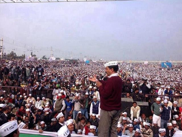 Aam-Admi-Party-AAP-leader-Arvind-Kejriwal-addresses-rally-in-Rohtak-Haryana-Raj-K-Raj-Hindustan-Times