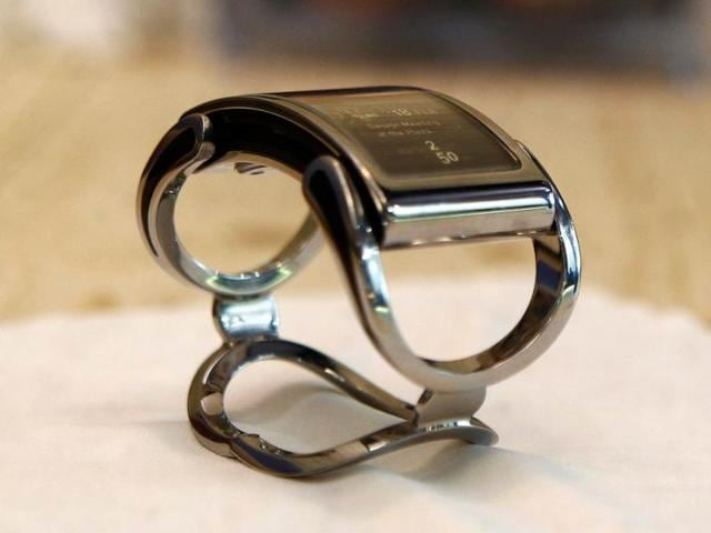 The-intelligent-watch-Ibis-by-Finnish-company-Creoir-is-displayed-during-at-the-Mobile-World-Congress-in-Barcelona-Photo-AFP-Quique-Garcia
