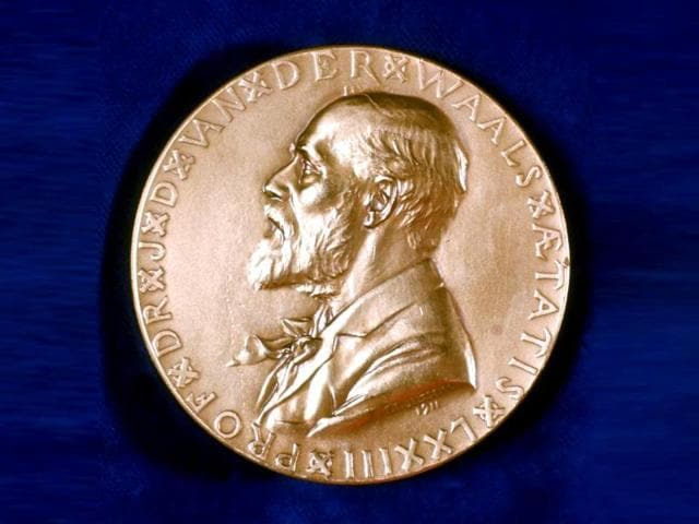 Commemorative-medal-of-Nobel-Prize-winner-Johannes-Diderik-Van-Der-Waals-Think-Stock-Photo