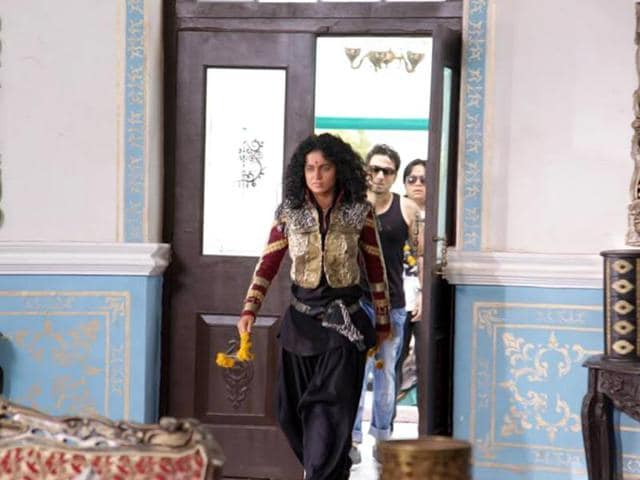 Kangana Ranaut in a still from Revolver Rani.