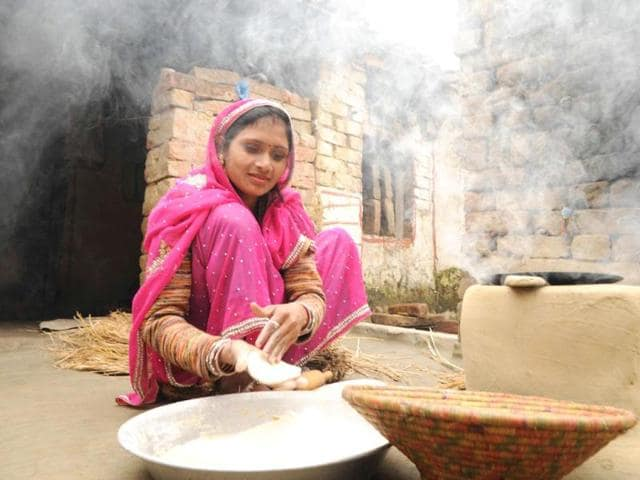 Priyanka-Bharti-brand-ambassador-for-Sulabh-has-convinced-40-odd-families-to-get-toilets-constructed-in-their-homes-in-Vishnupur-Ashok-Dutta-HT-Photo