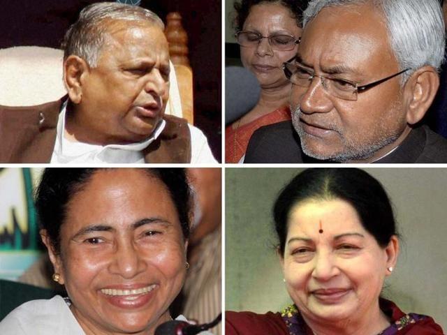 A-combo-clockwise-of-Samajwadi-Party-chief-Mulayam-Singh-Yadav-Bihar-chief-minister-Nitish-Kumar-Tamil-Nadu-chief-minister-J-Jayalalithaa-and-Trinamool-Congress-chief-and-West-Bengal-chief-minister-Mamata-Banerjee-Agencies