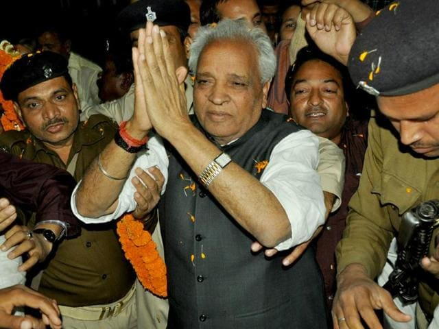 Chandrashekhar-Dubey-reached-Dhanbad-after-joining-the-Trinamool-Congress-on-Monday-Chandan-Paul-HT-Photo