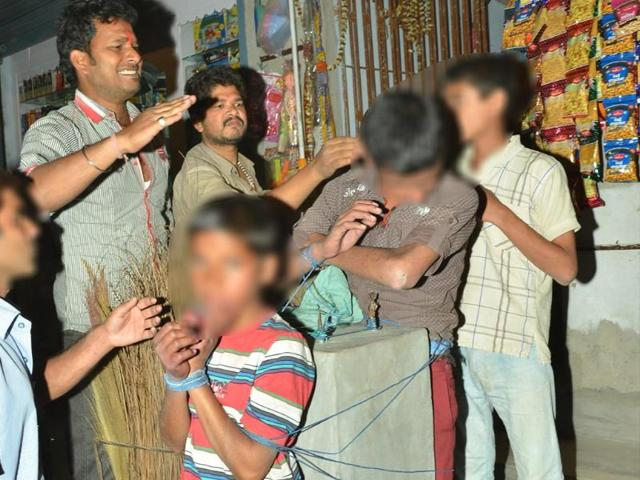 Two-Patna-kids-were-tied-to-pole-and-thrashed-for-stealing-HT-photo