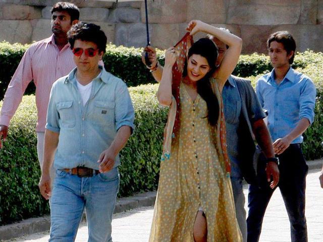 Jacqueline-Fernandes-on-the-sets-of-Kick-in-Delhi