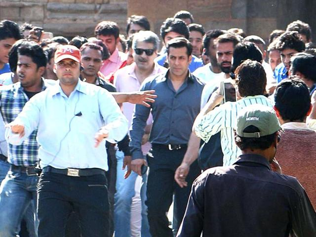 Salman Khan shoots for Kick in Delhi.