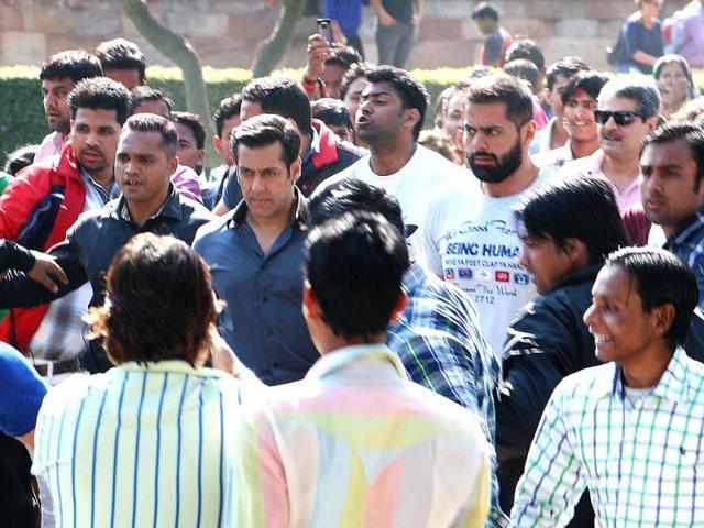 Salman-Khan-shoots-for-Kick-in-national-capital-Delhi