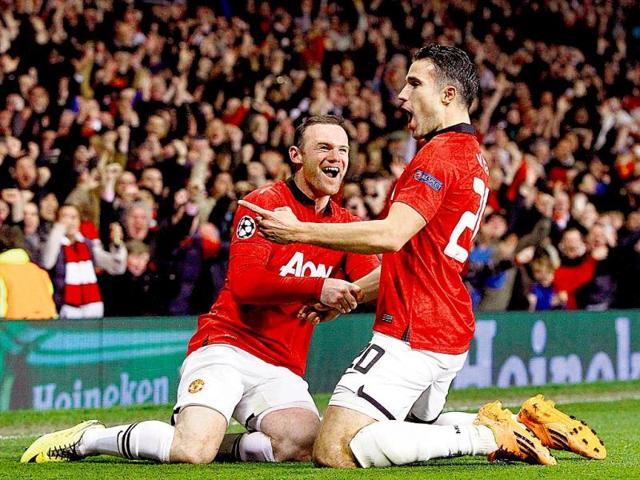 Robin van Persie,Manchester United,Olympiakos