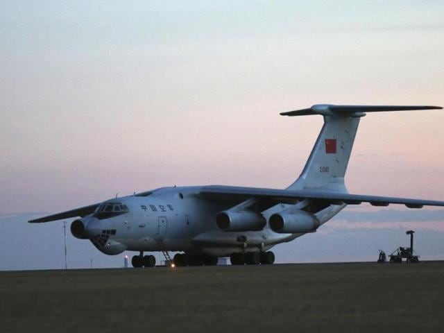 Two-Chinese--Ilyushin-IL-76s-aircraft-sit-on-the-tarmac-at-RAAF-Pearce-base-ready-to-join-the-search-missing-Malaysia-Airlines-flight-MH370-in-Perth-Australia-AP-Photo