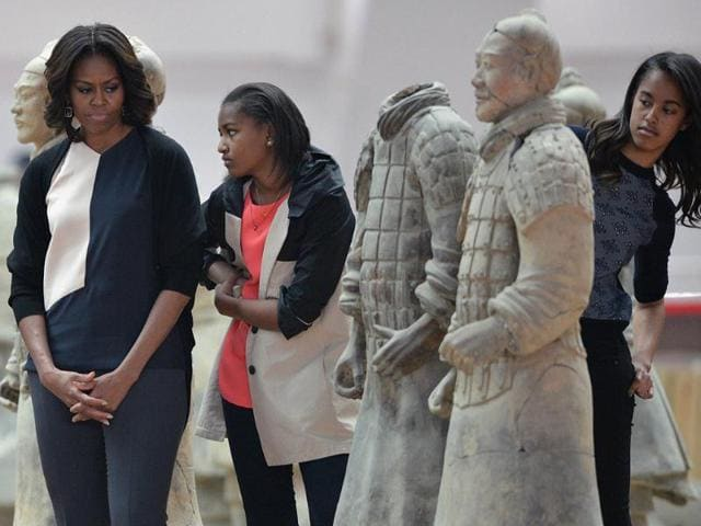Michelle Obama,China's Terracotta Warriors,Qin Shi Huang
