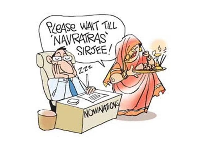 Candidates-in-Jharkhand-await-shubh-muhurat-to-file-nominations-Illustration-Jayanto