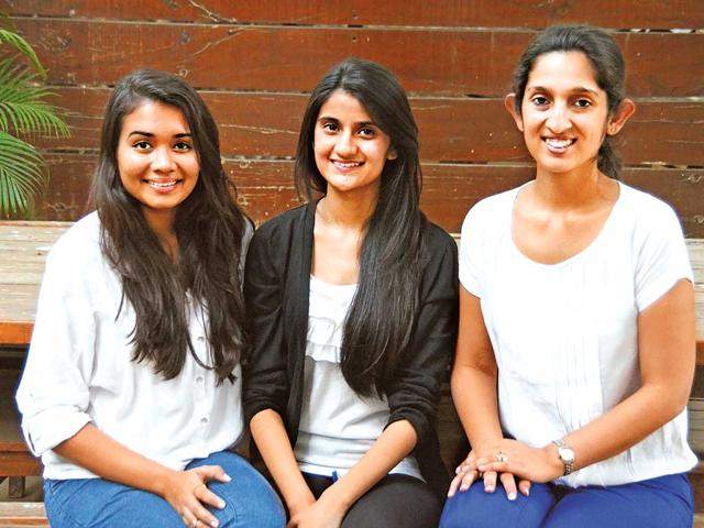 Rhea-Dhrishti-and-Malvika-the-young-women-behind-the-project-HT-photo