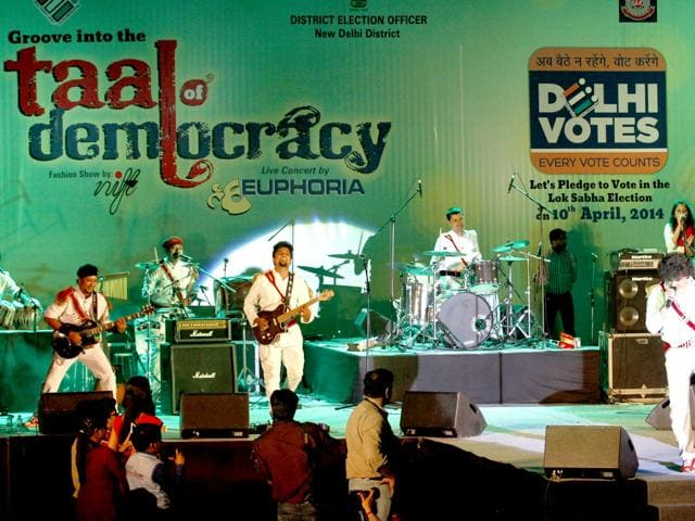 Pop-band-Euphoria-performs-at-a-concert-titled-Taal-of-Democracy-organised-by-Delhi-electoral-office-at-the-Central-Park-in-Connaught-Place-HT-photo-Arvind-Yadav