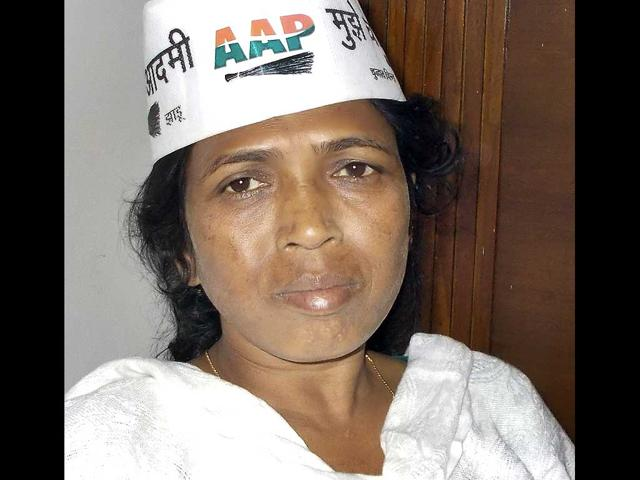 AAP-candidate-for-Lok-Sabha-elections-from-Bastar-constiuency-Soni-Sori-HT-photo-Ejaz-Kaiser
