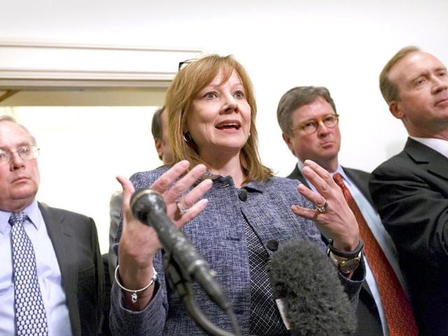 General-Motors-CEO-Mary-Barra-stops-briefly-to-speak-as-she-leaves-the-House-Energy-and-Commerce-Subcommittee-on-Oversight-and-Investigations-where-she-testified-about-a-safety-defect-and-mishandled-recall-of-2-6-million-small-cars-with-a-faulty-ignition-switch-that-s-been-linked-to-13-deaths-and-dozens-of-crashes-on-Capitol-Hill-in-Washington-AP-Photo