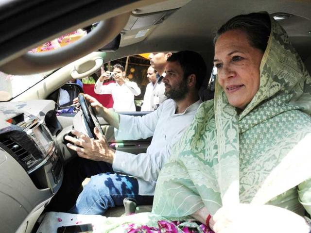 UPA-chairperson-Sonia-Gandhi-goes-to-file-her-nomination-papers-accompanied-by-her-Congress-vice-president-Rahul-Gandhi-Deepak-Gupta-HT-Photo